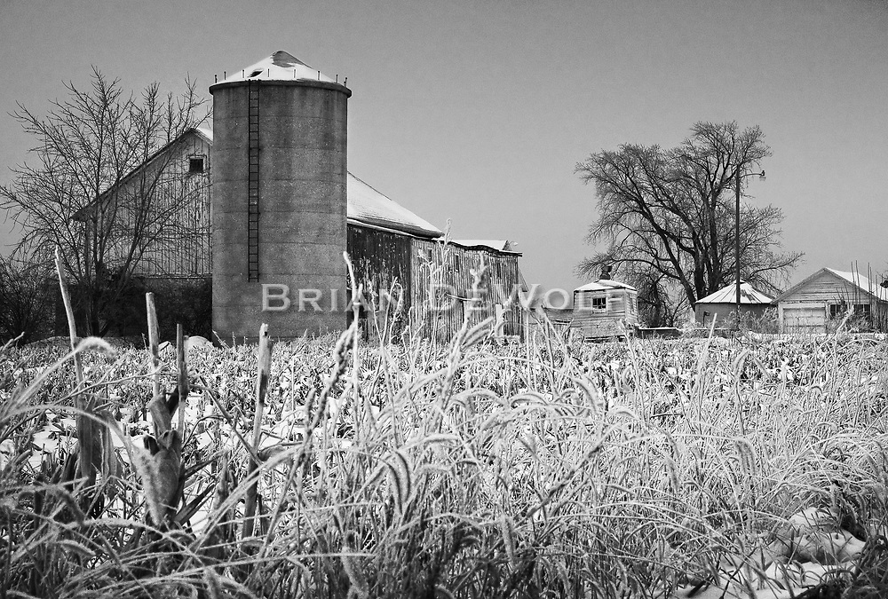 The only thing this farm prodices is crystals of winter. The dormant buildings are now gone, replaced by a new roadway.