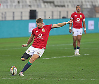 Rugby Union - 2021 British & Irish Lions Tour of South Africa - Second Test: South Africa vs British & Irish Lions<br /> <br /> Dan Biggar kicking a penalty, at Cape Town Stadium, Cape Town.<br /> <br /> COLORSPORT / JOHAN ORTON
