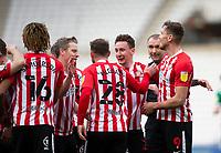 Football - 2020 / 2021 Sky Bet League One - Sunderland vs Lincoln City - Stadium of Light<br /> <br /> Callum McFadzean of Sunderland celebrates scoring the opening goal to make it 1-0 to Sunderland<br /> <br /> Credit: COLORSPORT/BRUCE WHITE