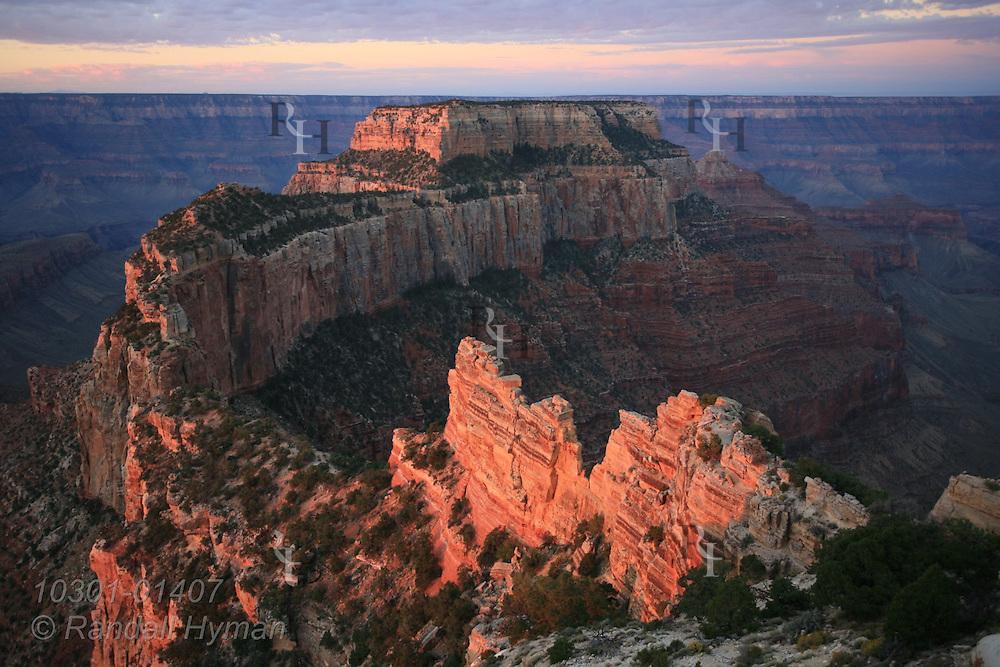 September sunrise and sunset at Cape Royal, North Rim, Grand Canyon National Park, Arizona.