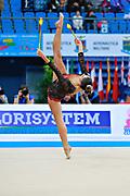 Giorgi Camilla during qualifying at clubs in Pesaro World Cup 11 April 2015. Camilla is a Argentine rhythmic gymnastics athlete born on January 2, 1995 in Córdoba, Argentine.