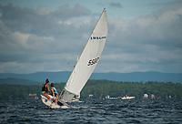 LWSA (Lake Winnipesaukee Sailing Association) pick up some nice wind off Lockes Island and Sanders Bay on Thursday.  (Karen Bobotas/for the Laconia Daily Sun)