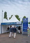 Henley-On-Thames, Berkshire, UK., Check In, Bag Search in operation at the entrance to The Stewards Enclosuer, Friday, 13.08.21,   2021 Henley Royal Regatta, Henley Reach, River Thames, Thames Valley,  [ Mandatory Credit © Peter Spurrier/Intersport Images],