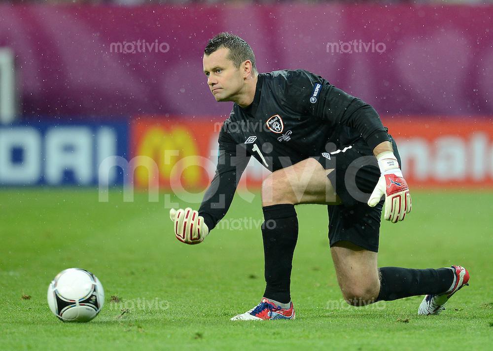 FUSSBALL  EUROPAMEISTERSCHAFT 2012   VORRUNDE Spanien - Irland                     14.06.2012 Torwart Shay Given (Irland)