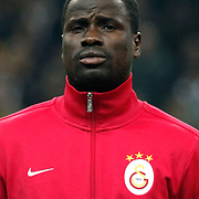 Galatasaray's Emmanuel Eboue during their Turkish Super League soccer match Galatasaray between Manisaspor at the TT Arena at Seyrantepe in Istanbul Turkey on Wednesday, 21 December 2011. Photo by TURKPIX