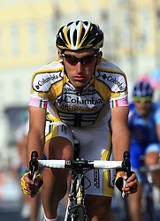 Marco Pinotti (ITA) of  Team Columbia at finish line of 2nd stage of 92nd Giro d'Italia in Trieste, on May 10, 2009, in Trieste, Italia.  (Photo by Vid Ponikvar / Sportida)