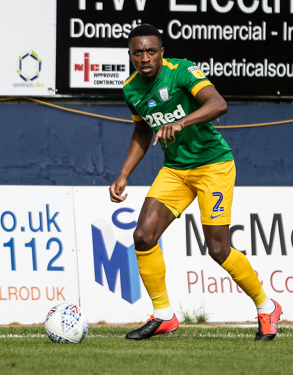 Preston North End's Darnell Fisher <br /> <br /> Photographer Andrew Kearns/CameraSport<br /> <br /> The EFL Sky Bet Championship - Luton Town v Preston North End - Saturday 20th June 2020 - Kenilworth Road - Luton<br /> <br /> World Copyright © 2020 CameraSport. All rights reserved. 43 Linden Ave. Countesthorpe. Leicester. England. LE8 5PG - Tel: +44 (0) 116 277 4147 - admin@camerasport.com - www.camerasport.com