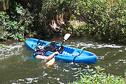 The 1st annual LA River Boat Race was held on August 30, 2014 on a 3/4 mile course consisting of small rapids and flat water located along a stretch of the river along the Glendale Narrows in the Elysian Valley. Almost a 100 participants competed in a variety of classifications that included Mens and Womens Advanced, Intermediate and Beginners as well as Youth, Tandem and Stand-Up Paddle boat. Noted Environmentalist Ed Begley Jr. kicked off the race as the first participant, which had racers going down the course solo and racing against the clock. The race was organized by L.A. River Expeditions which was founded by George Wolfe who led the 2008 LA River Expedition that led to the river being classified as a navigable river by the EPA and consequently protected under the clean water Act.