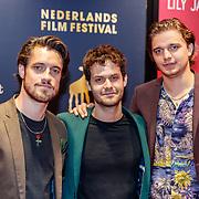 NLD/Utrecht/20180930 - NFF 2018, Première Anne+, Alex Hendrickx, Amy van der Weerden en Huib Cluistra