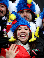 France fans before kick-off in the NatWest 6 Nations match at BT Murrayfield, Edinburgh.