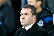 Everton Acting Manager David Unsworth looks of from the dugout. Premier league match, Everton vs Watford at Goodison Park in Liverpool, Merseyside on Sunday 5th November 2017.<br /> pic by Chris Stading, Andrew Orchard sports photography.
