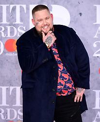 Rag'n'Bone Man attending the Brit Awards 2019 at the O2 Arena, London.