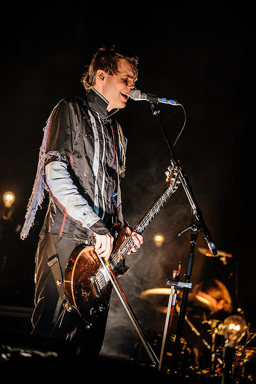 Sigur Ros performing live at the Rockhal concert venue in Luxembourg, Europe on November 23, 2013
