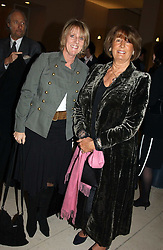 Left to right, JULIET NICOLSON and LADY ANNABEL GOLDSMITH at a the Orion Publishing Group Author Party and a private view of the 'Turner Whistler Monet' exhibition at Tate Britain, Atterbury Street, London SW1 on 23rd February 2005.<br /><br />NON EXCLUSIVE - WORLD RIGHTS