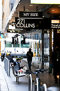 A man sits on a bench in the CBD during COVID-19 in Melbourne, Australia. Hotel quarantine linked to 99% of Victoria's COVID-19 cases, inquiry told. This comes amid a further 222 new cases being discovered along with 17 deaths. Melbourne continues to reel under Stage 4 restrictions with speculation that it will be extended. (Photo by Dave Hewison/Speed Media)