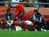 World Cup 2006 Germany  Cologne 20/06/2006<br />England v Sweden Group B (2-2)<br />Wayne Rooney (England) is disconsolate after being substituted <br />Photo Roger Parker Fotosports International