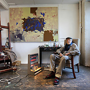Artist Bob Crossley who has studio 12. The building has been occupied by artists and fishermen for over 100 years, remaining virtually untouched.