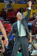 March 18, 2016; Tempe, Ariz;  Green Bay Phoenix head coach Kevin Borseth calls a play during a game between No. 7 Tennessee Lady Volunteers and No. 10 Green Bay Phoenix in the first round of the 2016 NCAA Division I Women's Basketball Championship in Tempe, Ariz.