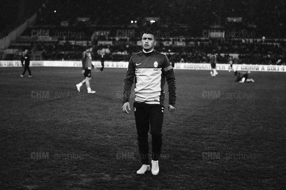 Arturo Vidal durante Roma vs Juventus. Stadio Olimpico. 16 febbraio 2013. Christian Mantuano / Oneshot