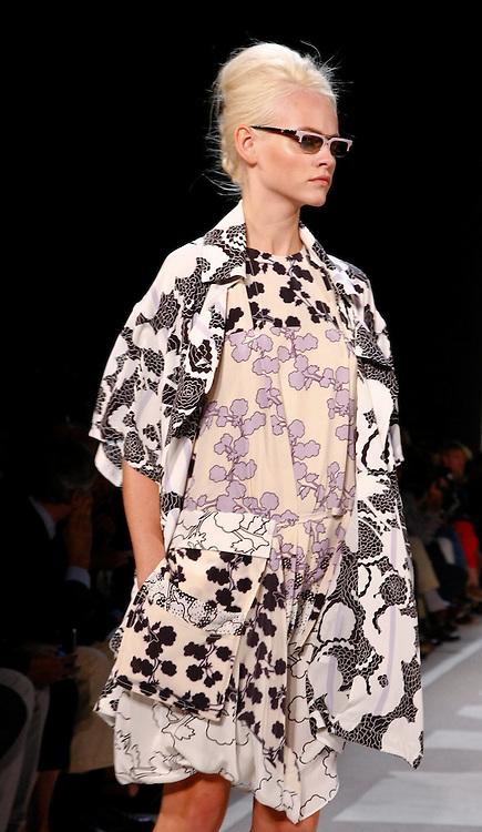 Models walk the runway for Diane von Furstenberg Spring 2012 fashion show during New York Fashion Week, NYC, NY, USA. 11/09/2011 Kevin Kane/CatchlightMedia