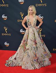 Kristen Bell bei der Verleihung der 68. Primetime Emmy Awards in Los Angeles / 180916<br /> <br /> *** 68th Primetime Emmy Awards in Los Angeles, California on September 18th, 2016***