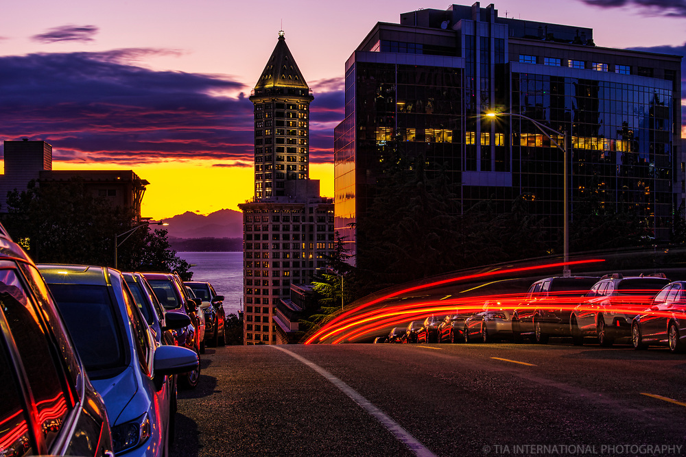 Smith Tower @ Sunset
