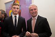 MANOUK MANOUKIAN; RAFFI MANOUKIAN;, , George Condo - private view . Simon Lee Gallery, 12 Berkeley Street, London, 10 February 2014
