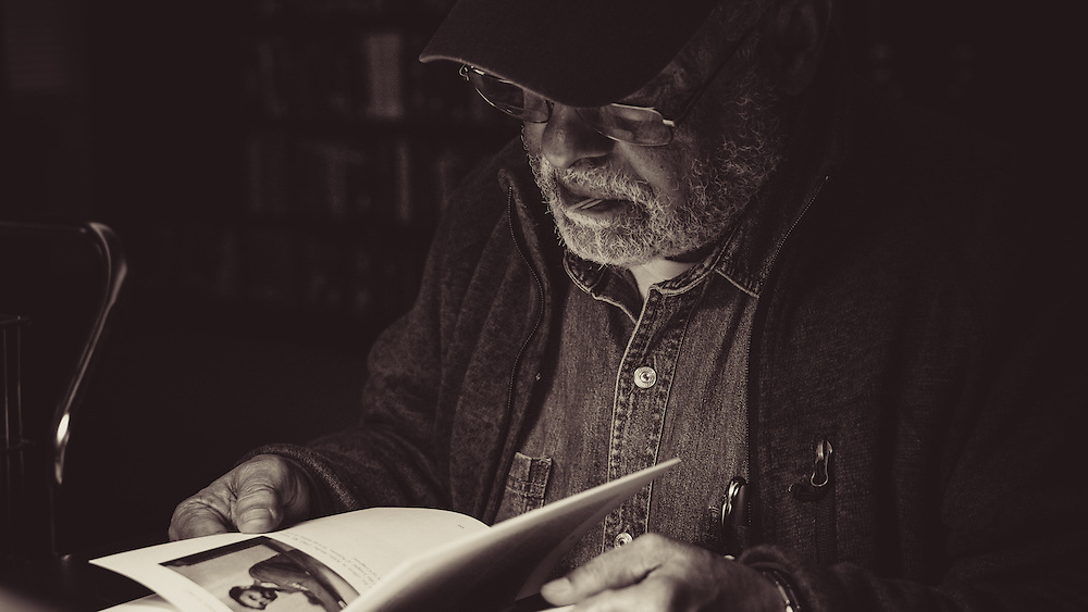 """Haile Gerima at the Library of Congress researching for his upcoming documentary and sequel to Adwa, """"Children of Adwa""""."""