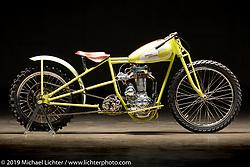 Cabana Dan Rognsvoog's totally handbuilt 1928 Harley-Davidson Peashooter hillclimber. The Handbuilt Show. Austin, Texas USA. Friday, April 12, 2019. Photography ©2019 Michael Lichter.