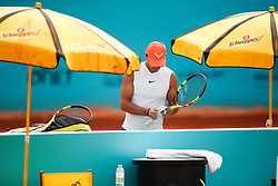 May 7, 2019 - Madrid, MADRID, SPAIN - Rafael Nadal (ESP) during the Mutua Madrid Open 2019 (ATP Masters 1000 and WTA Premier) tenis tournament at Caja Magica in Madrid, Spain, on May 07, 2019. (Credit Image: © AFP7 via ZUMA Wire)