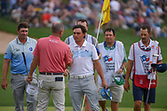 Rickie Fowler (USA) shakes hands following day 3 of the Valero Texas Open, at the TPC San Antonio Oaks Course, San Antonio, Texas, USA. 4/6/2019.<br /> Picture: Golffile | Ken Murray<br /> <br /> <br /> All photo usage must carry mandatory copyright credit (© Golffile | Ken Murray)