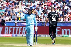 Jason Roy of England celebrates reaching 50 - Mandatory by-line: Robbie Stephenson/JMP - 03/07/2019 - CRICKET - Emirates Riverside - Chester-le-Street, England - England v New Zealand - ICC Cricket World Cup 2019 - Group Stage