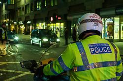 City of London motor cycle police on patrol