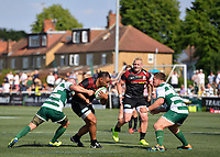 Rugby Union - 2021 Green King IPA Championship - Final, 1st leg - Ealing Trailfinders vs Saracens - Trailfinders Sports Ground<br /> <br /> Saracens' Billy Vunipola in action during this afternoon's game.<br /> <br /> COLORSPORT/ASHLEY WESTERN