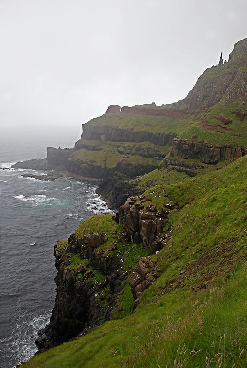 Giant's Causeway basalt landscape, Causeway coast, Northern Ireland/Ulster