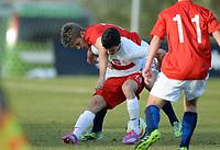 Fotball <br /> La Manga<br /> 11.02.2015<br /> Foto: Morten Olsen/Digitalsport<br /> <br /> U17 Tournament<br /> Landskamp G17<br /> Norge v Polen / Norway v Poland 0:3<br /> <br /> Patrik Braathen (18)  - Tromsø