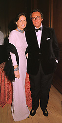 MISS LUCY WASTNAGE and her fiancee MR DAVID TANG, he is the Hong Kong multi millionaire, at a banquet in Surrey on 12th November 1998.MLX 21