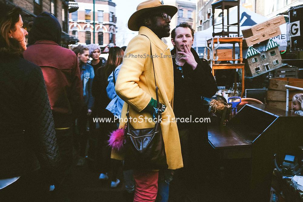 Daily city life scene in London, UK