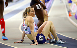 Great Britain's Eilidh Doyle after the Women's 400m Heat 7 during day one of the European Indoor Athletics Championships at the Emirates Arena, Glasgow.