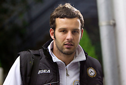 Goalkeeper Samir Handanovic of Udinese after the football match between Udinese Calcio and Palermo in 8th Round of Italian Seria A league, on October 24, 2010 at Stadium Friuli, Udine, Italy.  Udinese defeated Palermo 2 - 1. (Photo By Vid Ponikvar / Sportida.com)