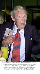 MAJOR BRUCE SHAND father of Camilla Parker Bowles, at a reception in London on 13th June 2001.	OPG 24
