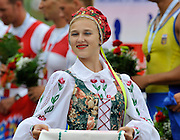 Brest, Belarus.   Ceremonial guards and presentation party girls in National dress . 2010. FISA U23 Championships. Sunday,  25/07/2010.  [Mandatory Credit Peter Spurrier/ Intersport Images]