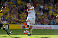 Jonjo Shelvey of Swansea City passing the ball. Barclays Premier League, Watford v Swansea city at Vicarage Road in London on Saturday 12th September 2015.<br /> pic by John Patrick Fletcher, Andrew Orchard sports photography.
