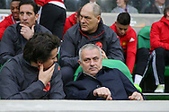 Jose Mourinho Manager of Manchester United Manager during the Europa League match between Saint-Etienne and Manchester United at Stade Geoffroy Guichard, Saint-Etienne, France on 22 February 2017. Photo by Phil Duncan.