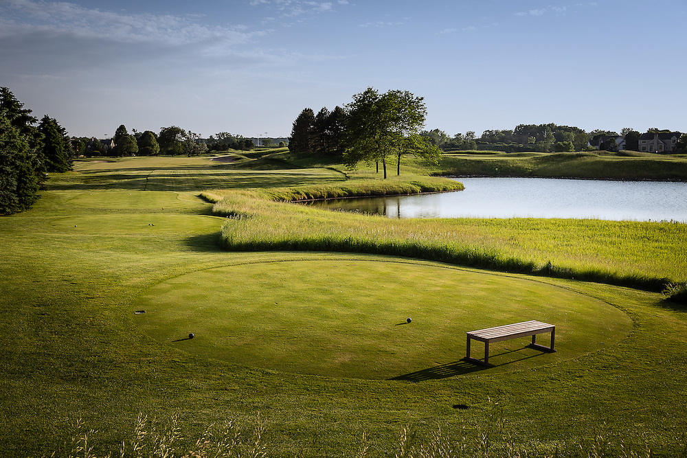 Fourteenth hole at Conway Farms Golf Course photographed in June 2015. ©Charles Cherney Photography