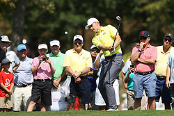 September 21, 2017 - Atlanta, Georgia, United States - Jordan Spieth chips on to the 3rd green during the first round of the TOUR Championship at the East Lake Club. (Credit Image: © Debby Wong via ZUMA Wire)