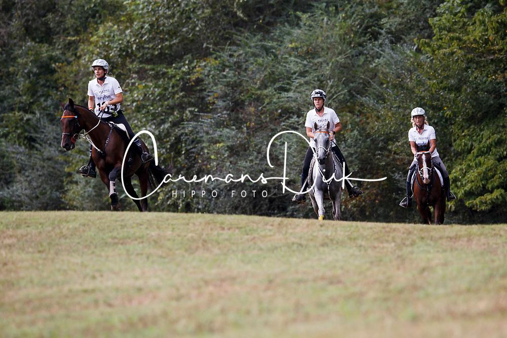 Just Celine, Boulanger Carine, Schuiten Louna, BEL,<br /> World Equestrian Games - Tryon 2018<br /> © Hippo Foto - Sharon Vandeput<br /> 13/09/2018