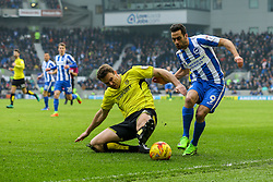 Ben Turner of Burton Albion sliding tackle on Dale Stephens of Brighton & Hove Albion - Mandatory by-line: Jason Brown/JMP - 11/02/2017 - FOOTBALL - Amex Stadium - Brighton, England - Brighton and Hove Albion v Burton Albion - Sky Bet Championship