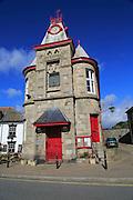 Historic building of Marazion town hall, Cornwall, England, UK