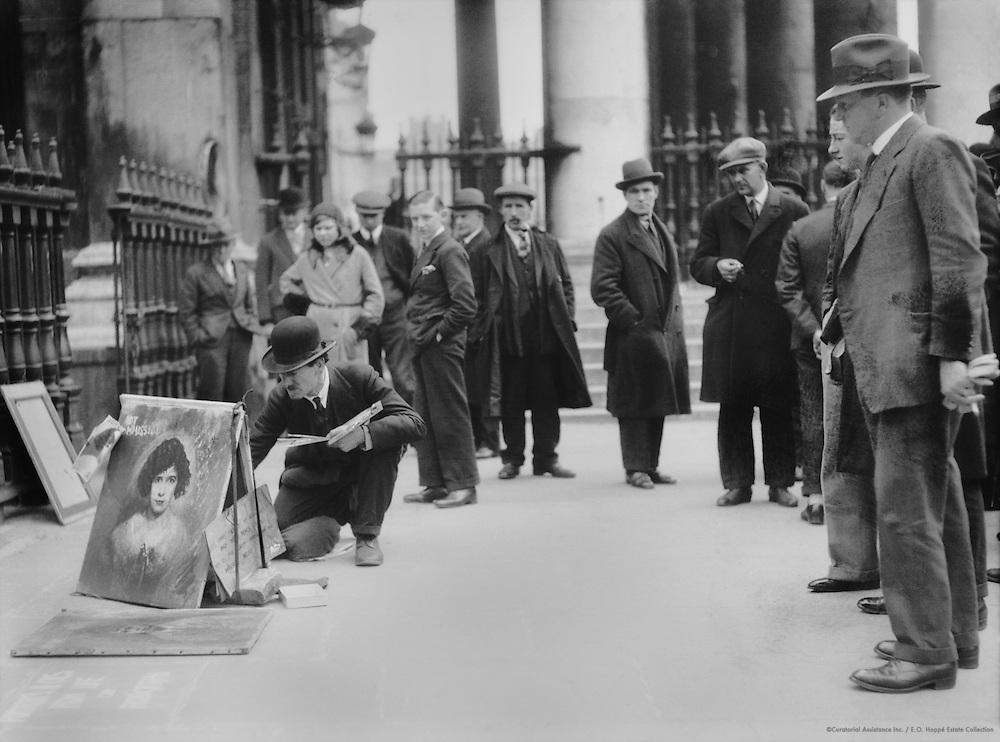Pavement Artist, London, 1929